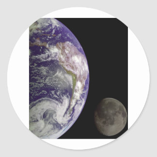 Earth Moon from Galileo Stickers
