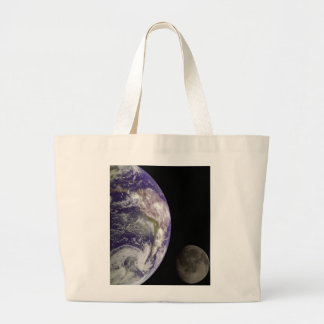 Earth & Moon from Galileo Tote Bags