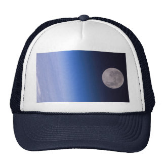 Earth & Moon From The International Space Station Trucker Hats