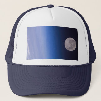 Earth & Moon From The International Space Station Trucker Hat