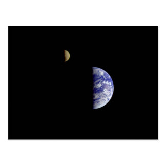 Earth Moon Galileo Space Photograph Postcard
