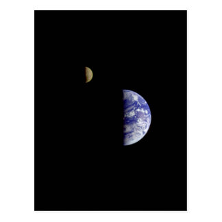 Earth Moon Galileo Space Photograph Postcard