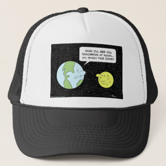 earth moon noon which time zone trucker hat
