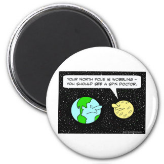 earth moon spin doctor wobble north pole 2 inch round magnet