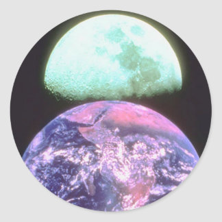 Earth Moon Sticker