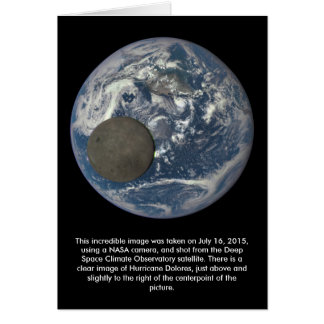 Earth & Moon's Far Side From Space Card