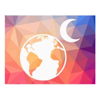 Earth Moons Sign Postcard