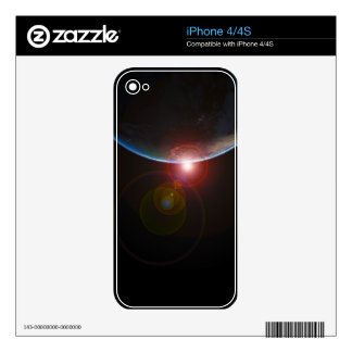 EARTH MORNING 688 SPACE PLANETS SUNRISE BEAUTY SKIN FOR THE iPhone 4