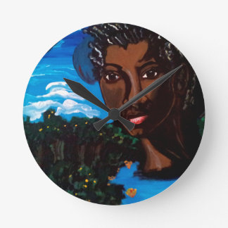Earth Mother and Goddess of the Planet Round Clock