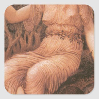 Earth Mother by Edward Burne-Jones Square Sticker