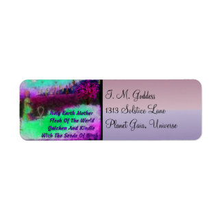Earth Mother Custom Return Address Labels