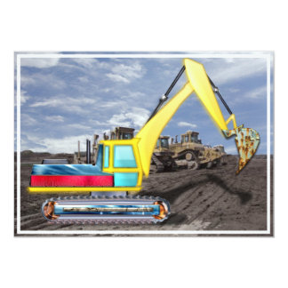 Earth Mover Moving Dirt 5x7 Paper Invitation Card