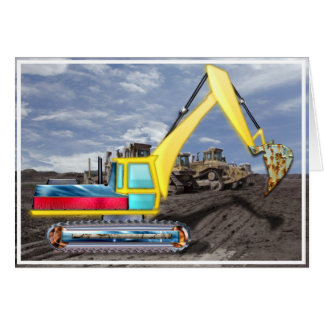 Earth Mover Moving Earth Blank Card