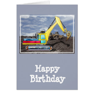 Earth Mover Moving Earth Greeting Card