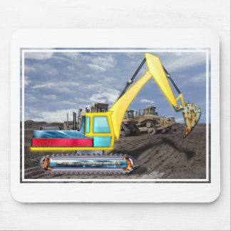 Earth Mover Moving Earth Mouse Pad