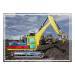 Earth Mover Moving Earth Poster