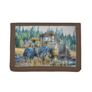 Earth Moving Dozer for Drivers & Farm-workers Tri-fold Wallets