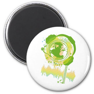 Earth_Music 2 Inch Round Magnet