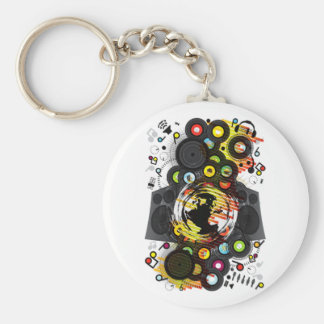 Earth_Music Basic Round Button Keychain