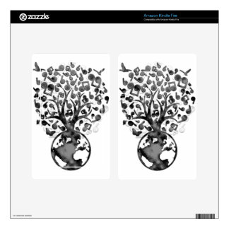 Earth_Music Skins For Kindle Fire