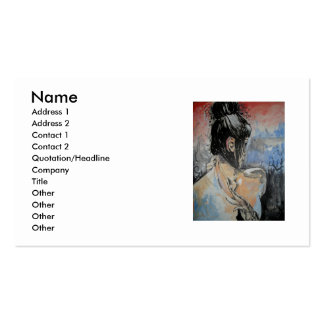 earth, Name, Address 1, Address 2, Contact 1, C... Double-Sided Standard Business Cards (Pack Of 100)