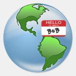 Earth Named Bob Round Sticker