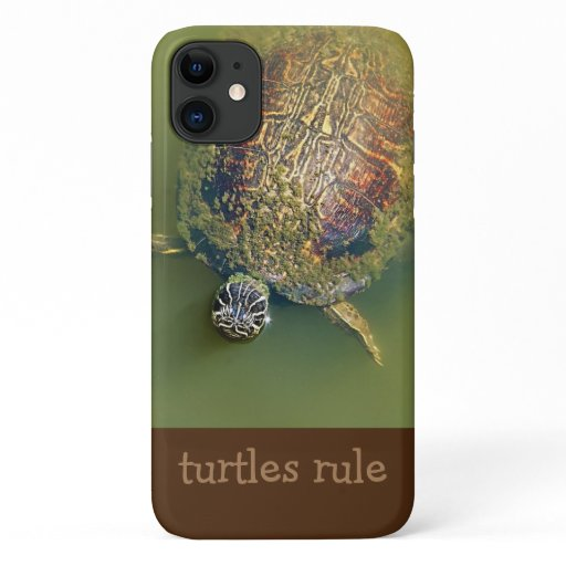 Earth Nature Turtle Theme iPhone 11 Case