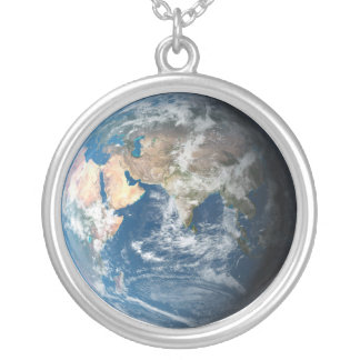 Earth Round Pendant Necklace