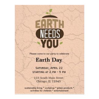 """Earth needs you 8.5"""" x 11"""" flyer"""