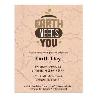 Earth needs you personalized flyer