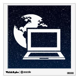 Earth Networks Minimal Wall Sticker