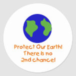 Earth No 2nd Chances Classic Round Sticker