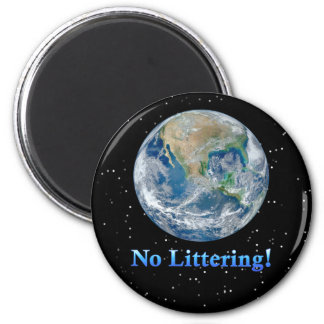 Earth No Littering - Multiple Products Magnets