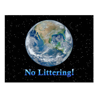 Earth No Littering - Multiple Products Postcard