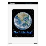 Earth No Littering - Multiple Products Skin For The iPad