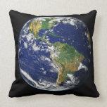 Earth North America South America Globe Throw Pillow