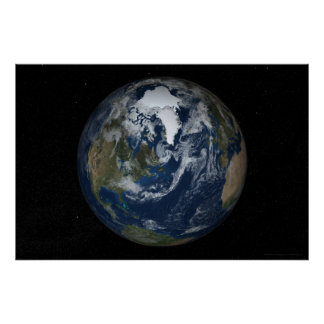 Earth North Polar View 78x52 (60x40) Poster