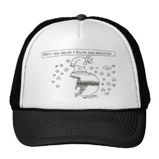 Earth: now serving 7 billion and growing! trucker hat