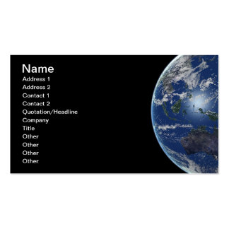 EARTH OCEANIA PLANETS SPACE PHOTOGRAPHY DIGITAL Double-Sided STANDARD BUSINESS CARDS (Pack OF 100)