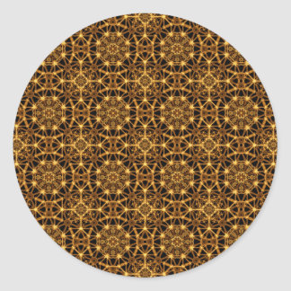 Earth Octagons Pattern Classic Round Sticker