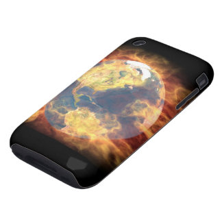 earth on fire iPhone 3 tough cover