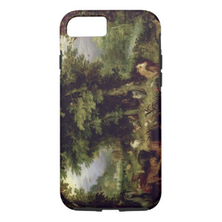 Earth or The Earthly Paradise, 1607-08 (oil on cop iPhone 7 Case