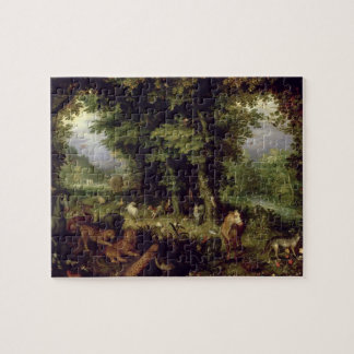 Earth or The Earthly Paradise, 1607-08 (oil on cop Jigsaw Puzzle