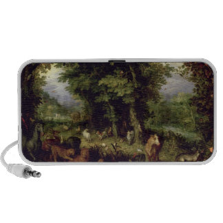 Earth or The Earthly Paradise, 1607-08 (oil on cop Speaker