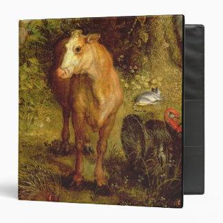Earth or The Earthly Paradise, detail of a cow, po 3 Ring Binder