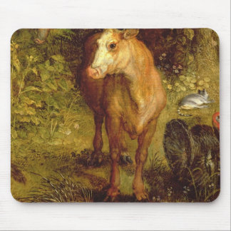 Earth or The Earthly Paradise, detail of a cow, po Mouse Pad