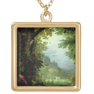 Earth or The Earthly Paradise, detail of Adam and Square Pendant Necklace