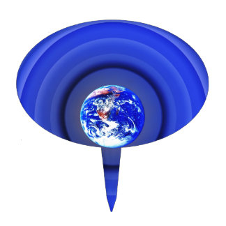 Earth Orbits Cake Topper