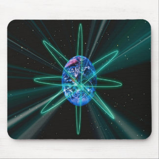 Earth Orbits Mouse Pad