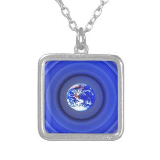 Earth Orbits Square Pendant Necklace